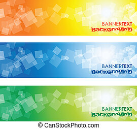 square banner - abstract square banners