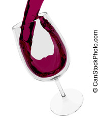 Red wine cup - A cup of red wine of Rioja