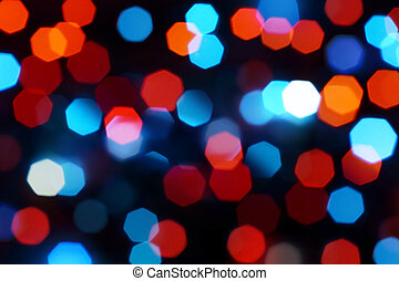 Holiday defocused lights