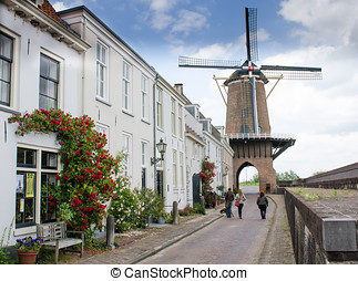 Mill Rijn en Lek in the town of Wijk bij Duurstede with a...