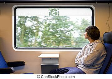列車, 雨