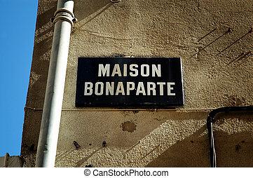 The birthplace of Napoleon Bonaparte in Ajaccio, Corsica,...
