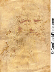 grunge background a la da Vinci - Abstract grunge background...