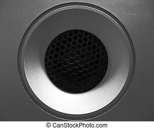 Macro sound system 1 - BW high contrast macro old sound...