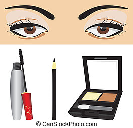 Decorative cosmetic for eyes. Vecto