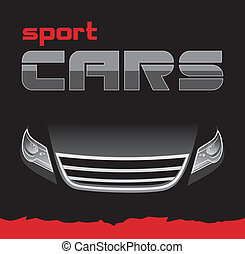 Sport car. Background for card