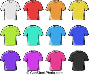T- Shirts - T-shirts in twelve different colors