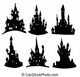 Silhouettes of castles