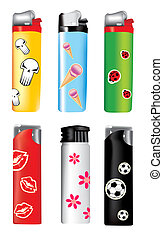 vector plastic lighters