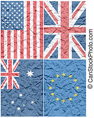 Creased flag