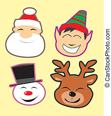 Cute christmas heads