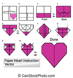 Paper heart instuction