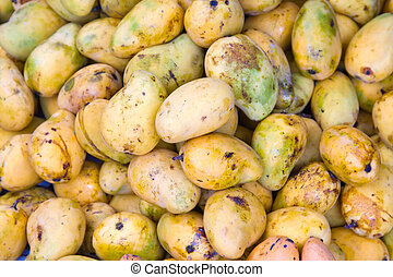 Mango - A lot of the mango in the market in Cambodia