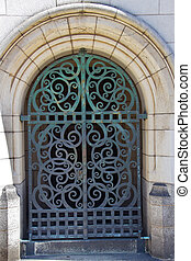 Yale University Doorway Iron Gate - Yale University Doorway,...