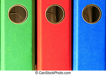 file folders - different colored file folders