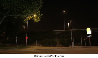 Night crossroads - BARCELONA - MAY 24, 2012: Night...