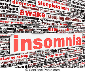 Insomnia message concept. Sleep disorder icon conceptual...