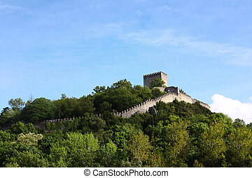 High Castle - Castle on the top of an hill, surrounded by...