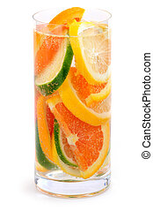 Citrus beverage - Bubbly beverage with citrus slices...