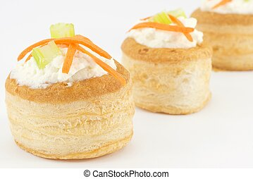 vol au vent with ricotta cheese - Ideal for appetizers and...
