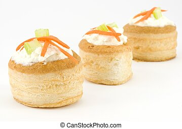 vol au vent with ricotta - Ideal for appetizers and drinks