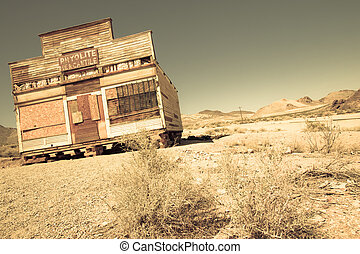 Ghost Town - Artistic render of historic western ghost town...