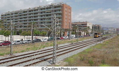 Passenger subway train - BARCELONA - MAY 25, 2012: Modern...
