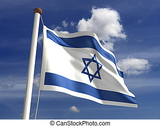Israel flag (with clipping path) - 3D Israel flag (with...