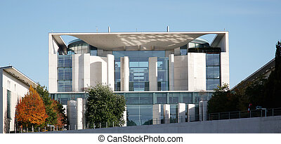 German Chancellery Berlin - view at the German Chancellery...