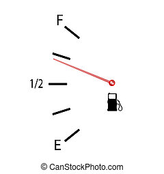 fuel gauge vector illustration with symbol on white