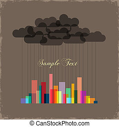 City of rainbow. Concept vector background