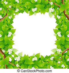 Leaves Framing a Message Area - Leaves Framing a Message or...