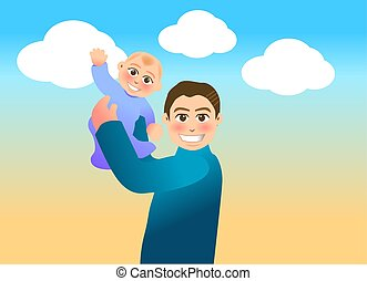 fatherhood - vector illustration for a relationship for...
