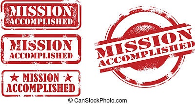 Mission Accomplished Stamps - A collection of mission...