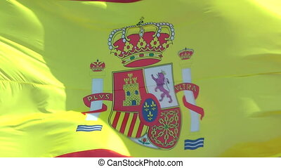 Flag of Spain - Closeup of the flag of Spain
