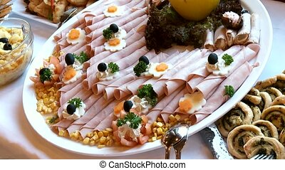 Buffet With ham