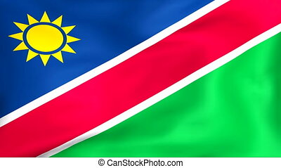 Flag Of Namibia - Developing the flag of Namibia