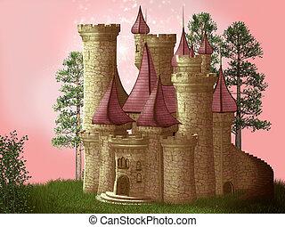 Fantasy castle 3D