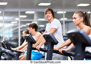 Sportsmen - Young people at fitness club