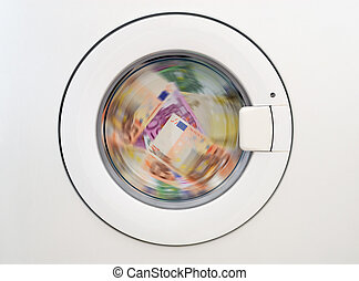 money laundring in the washing machine