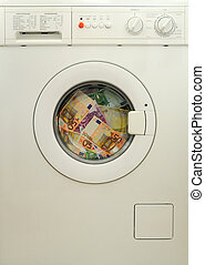 money laundering in washing machine