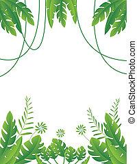 tropicais, folha, fundo