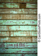 Green Old Cracked wood Plank wall