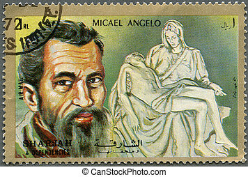 SHARJAH & DEPENDENCIES - 1972 : shows Michelangelo...