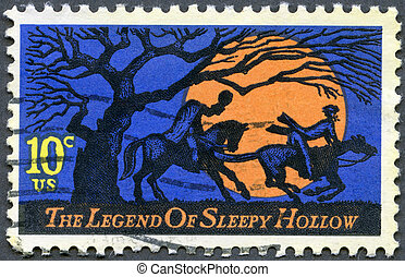 USA - CIRCA 1974: A stamp printed in USA shows Legend of...