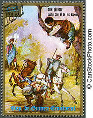 EQUATORIAL GUINEA - 1975: shows Don Quixote - EQUATORIAL...