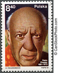 POLAND - CIRCA 1981: A stamp printed in Poland shows Pablo...
