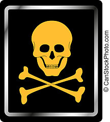Danger sign - skull symbol - Danger sign with skull symbol...