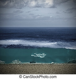 landscape of ocean and seabed