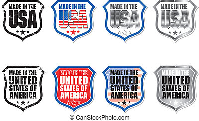 Made in USA Shield Graphic